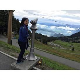 Stunning alpine views on the Europe Vistas tour from passenger @rheenarhain