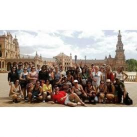 Expat Explore's #SpainAndPortugal tour in Plaza De Espania, #Seville, #Spain Photo by @mondexplore