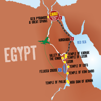 Nile Jewel map