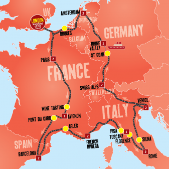 Europe Explorer map