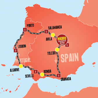Highlights Spain Portugal Map