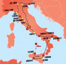 Italy Explorer Tour Map
