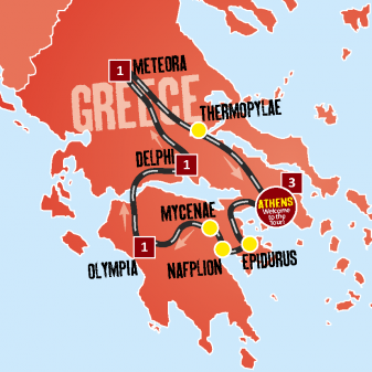 Taste Greece Map