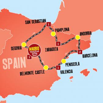 Taste of Spain map