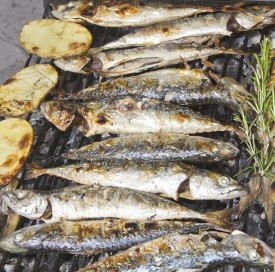 Fresh grilled fish in Croatia